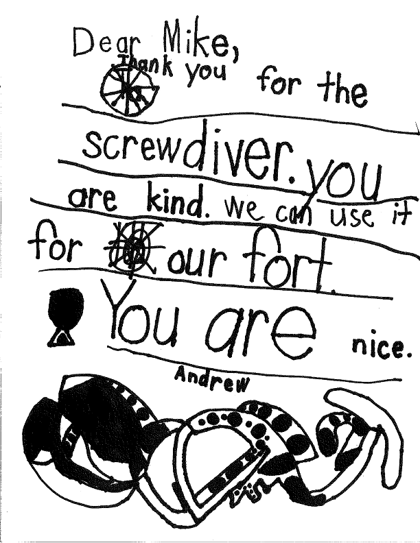 Andrew's Thank You